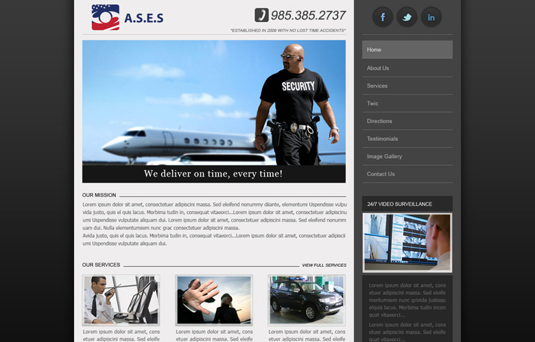 Americas Security Escort Service Website Design, Proposal v1.0