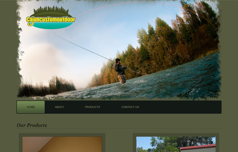 Cajun Custom Outdoor Website Design v1.0