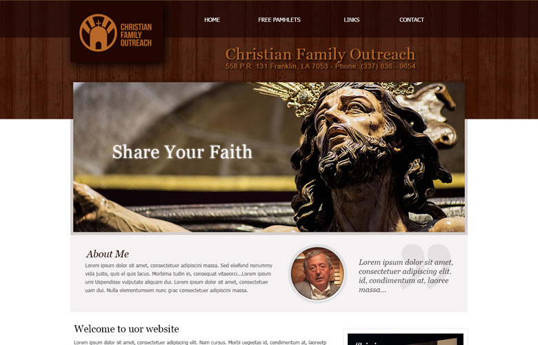 Christian Family Outreach Website Design v2.0