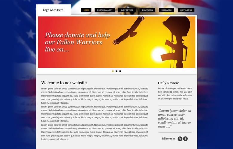 Fallen Warriors Memorial Website Design v1.0
