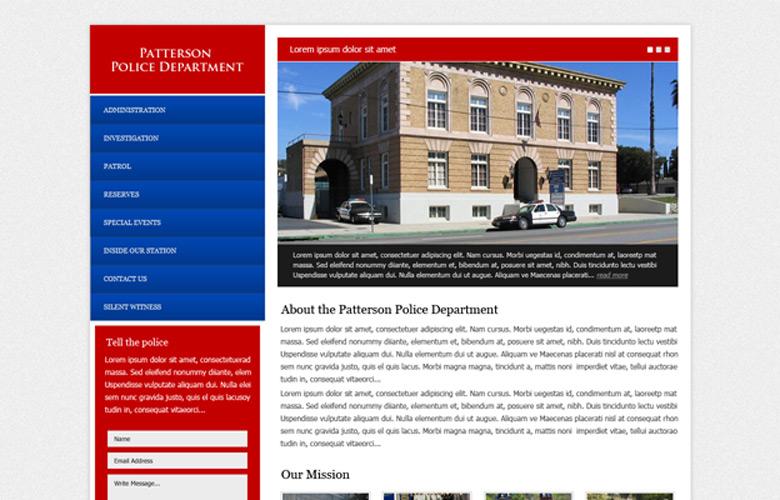 Patterson PD Website Design v1.0
