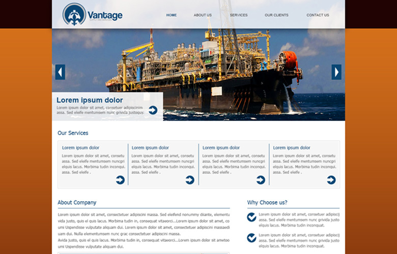 Vantage Supply Website Design v2.0