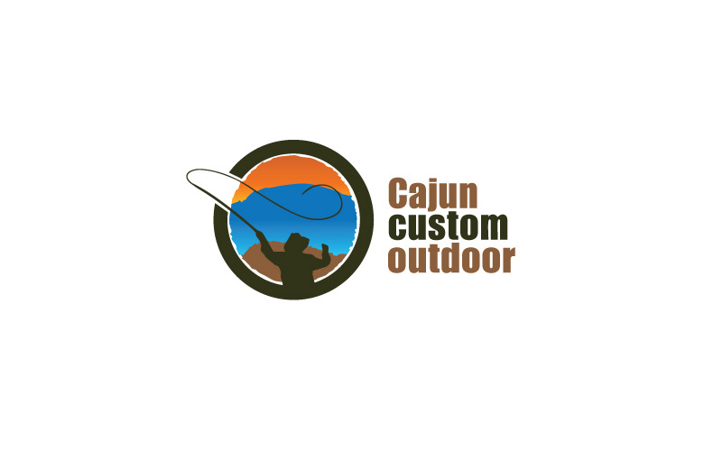 Cajun Custom Outdoor Logo, v2.0