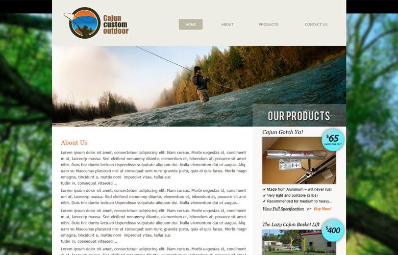 Cajun Custom Outdoor Website Design v2.0