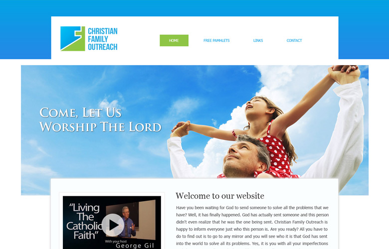 Christian Family Outreach Website Design v1.0
