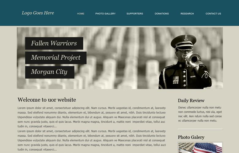 Fallen Warriors Memorial Website Design v2.0