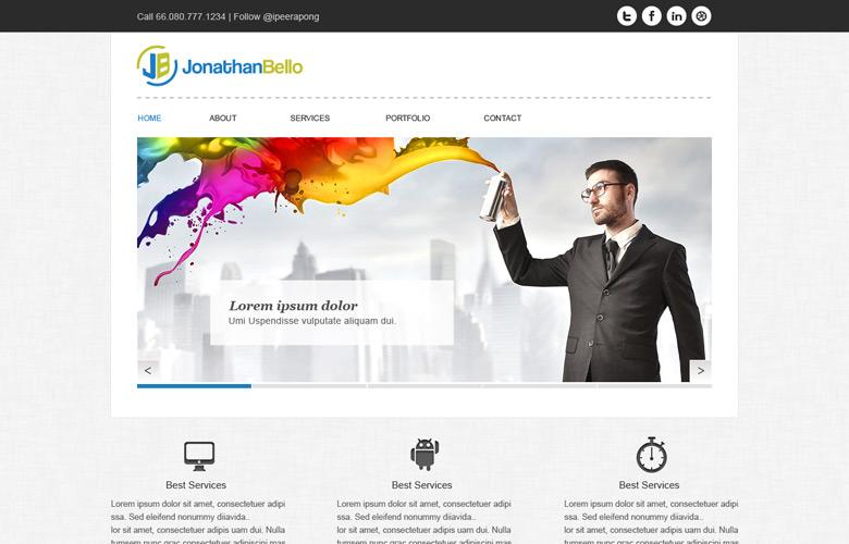 Jonathan Bello Website Design v1.0