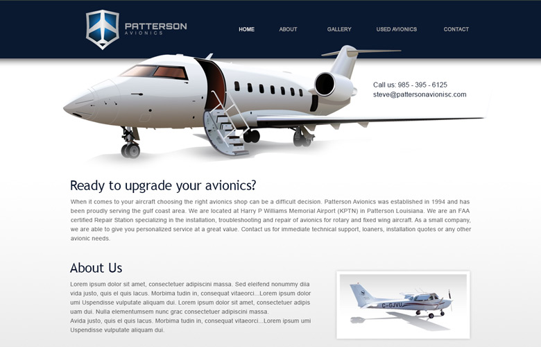 Patterson Avionics Company Website Design v1.0