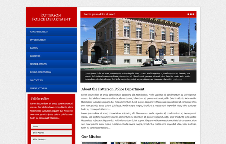 Patterson PD Website Design v1.0