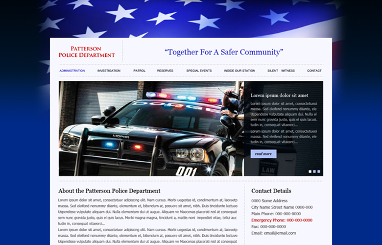 Patterson PD Website Design v2.0