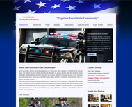 Portfolio / Web Design / Patterson PD Website Design