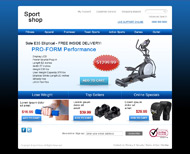 Portfolio / Web Design / Sport Shop